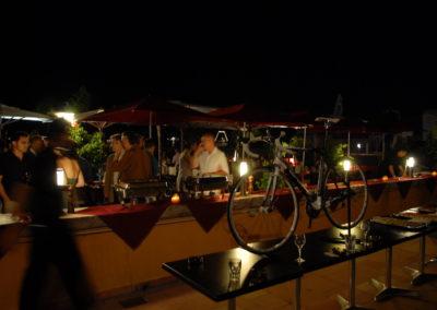 Dîner de l'Association internationale des journalistes du cyclisme sur le port de Monaco, le samedi 4 juillet 2009, dans le cadre du Grand Départ du Tour de France. Ni plus ni moins qu'un écrin princier pour la remise du 5<sup>e</sup> Prix Jacques-Goddet.