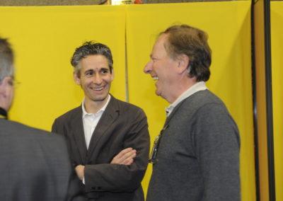 Jean-Julien Ezvan, reporter au <em>Figaro</em> et lauréat du 4e Prix Jacques-Goddet. De toute évidence, Patrice Clerc, le président d'Amaury Sport Organisation, n'est pas le dernier à s'en réjouir !