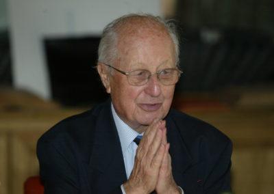 Jacques Marchand président du 1<sup>er</sup> jury. Regardé comme l'une des plus belles figures du journalisme français, il a longtemps été le bras droit de Jacques Goddet à <em>L'Équipe</em>.