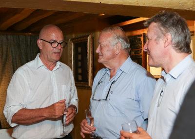 Jean-Marie Leblanc a été rejoint par Éric Marchyllie, responsable sponsoring de Carrefour France, et Thierry Rey, resté dans l'histoire comme le premier judoka français sacré champion d'Europe, champion du monde et champion olympique en individuel, et présentement invité d'honneur de ce 13<sup>e</sup> Prix Jacques-Goddet.