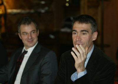 Christophe Penot, le fondateur-organisateur, aux côtés de Michel Dalloni, directeur de la rédaction de <em>L'Équipe</em>. Dans la filiation de Jacques Goddet.