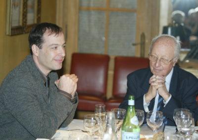 Henri Montulet, rédacteur en chef de <em>La France Cycliste</em>. Dans une complicité fervente avec ce formidable aîné que demeure Jacques Marchand.
