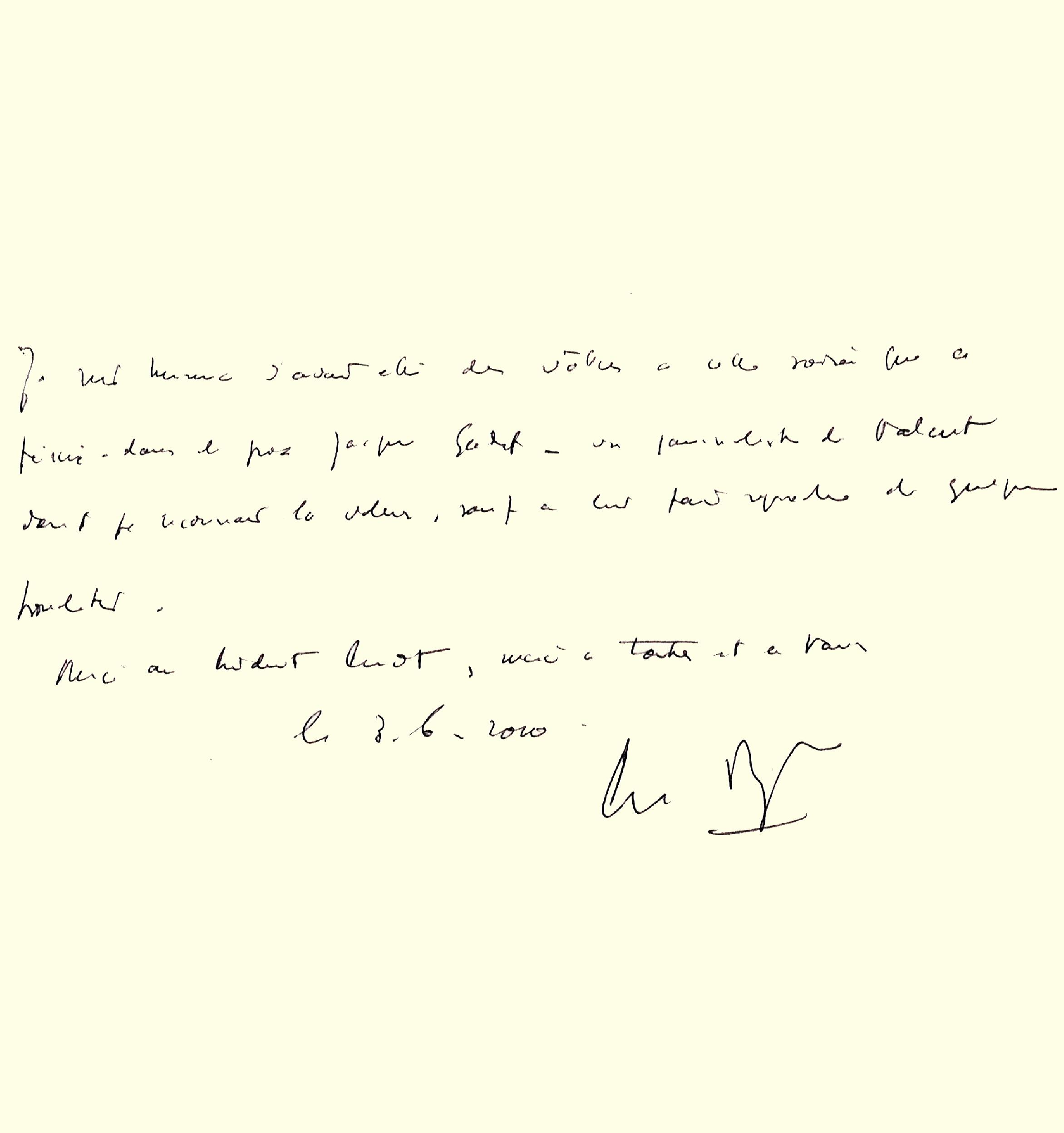 Livre d'or : dédicace de Pierre Mazeaud