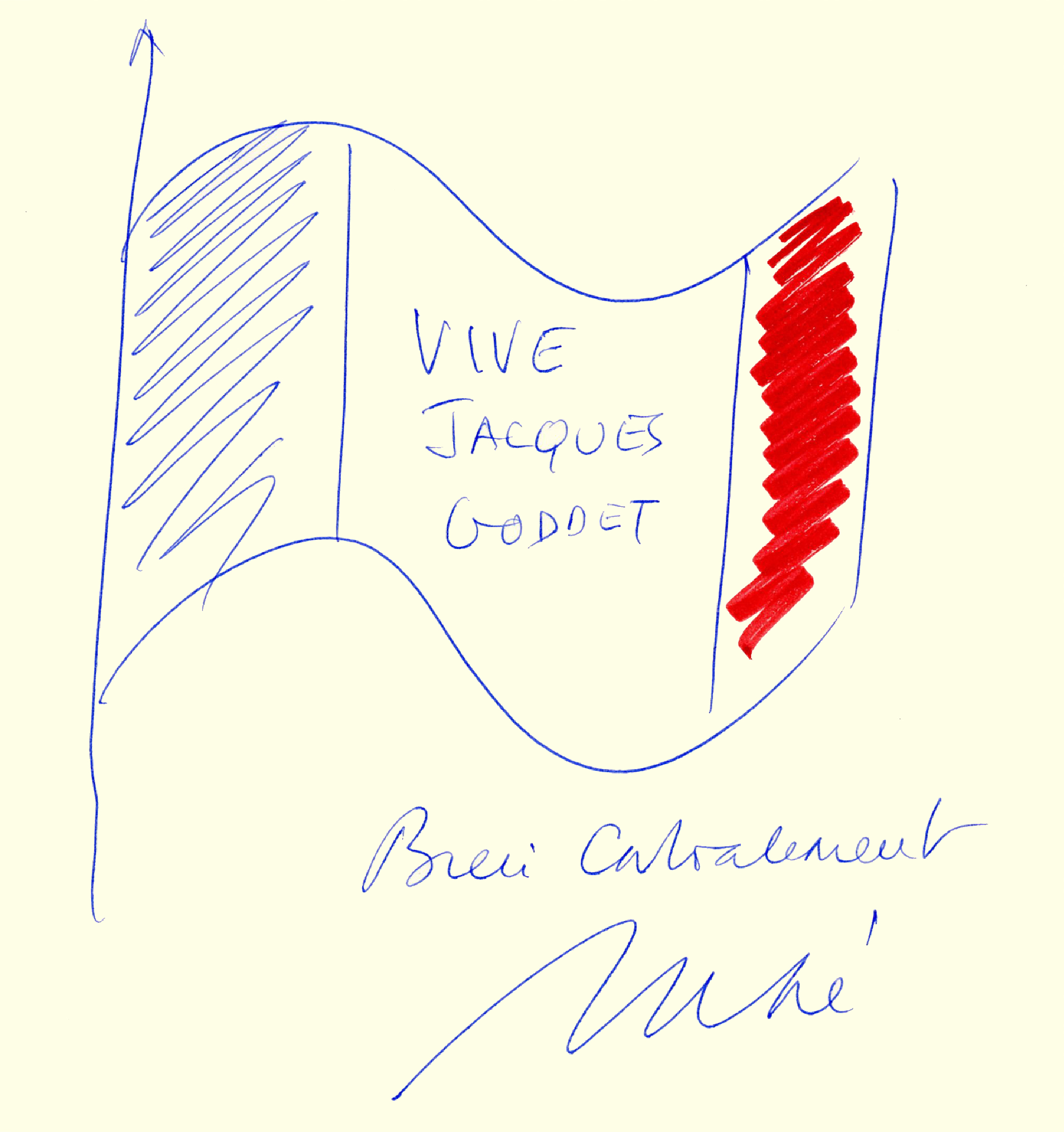 Livre d'or : dédicace de Jean-Louis Debré