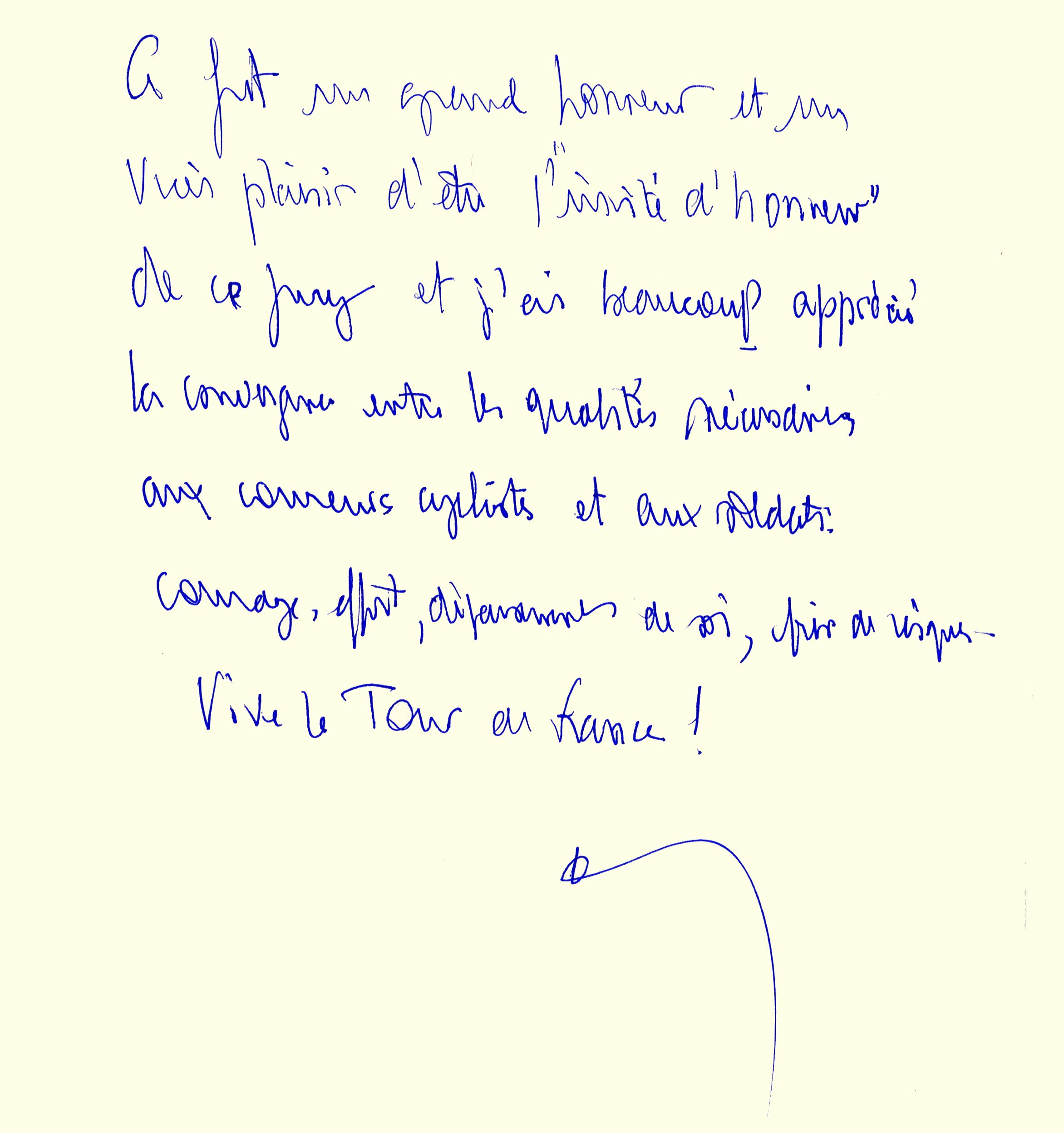 Livre d'or : dédicace du Général d'armée Jean-Louis Georgelin