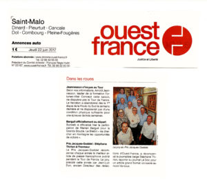 Ouest-France - Prix Jacques-Goddet Jeudi 22 juin 2017