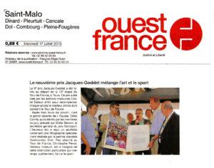 Ouest-France - Prix Jacques-Goddet - mercredi 17 juillet 2013