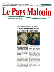 Le Pays malouin - Prix Jacques-Goddet - mercredi 24 avril 2013