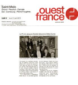 Ouest-France - Prix Jacques-Goddet - jeudi 11 avril 2013