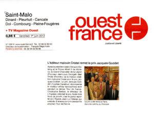 Ouest-France - Prix Jacques-Goddet - Vendredi 1er juin 2012