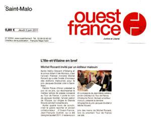 Presse - Ouest-France - Prix Jacques-Goddet - jeudi 2 juin 2011