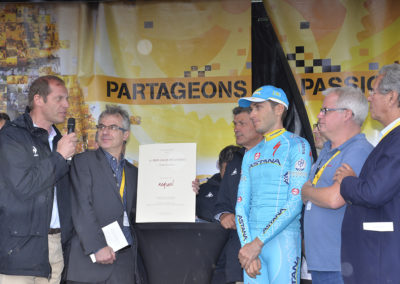 «Rares sont les cyclistes qui prennent des positions politiques», a souligné Christian Prudhomme. En confiant à Philippe Le Gars que «la dictature russe s'installe chez moi alors je pédale», interview primée par le jury, Andriy Grivko, le coureur d'Astana, associe son nom à l'histoire du 11<sup>e</sup> Prix Jacques-Goddet.