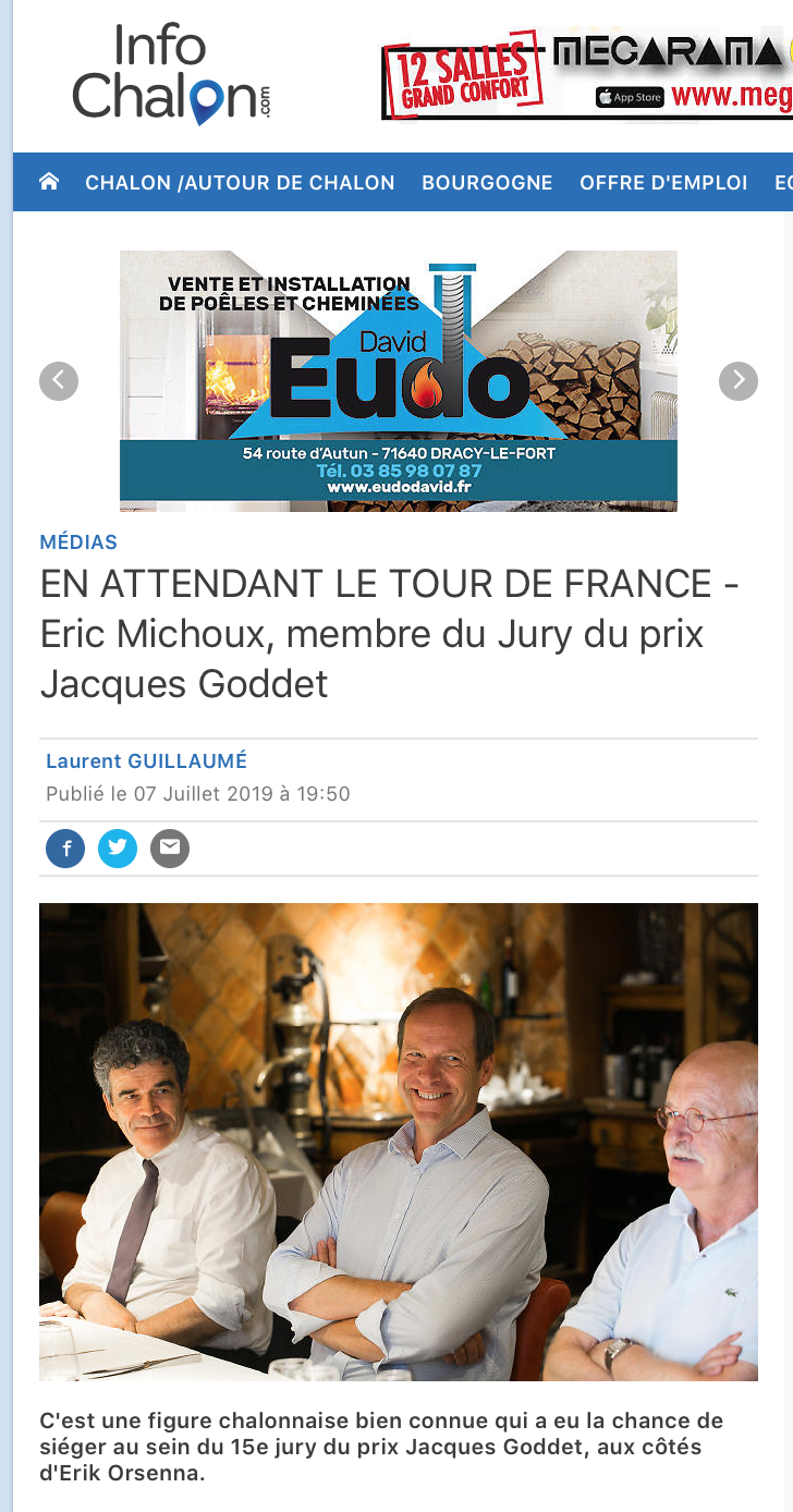 Info Chalon - Prix Jacques-Goddet - Juillet 2019
