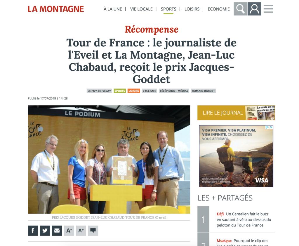 La Montagne - Prix Jacques-Goddet - Juillet 2018