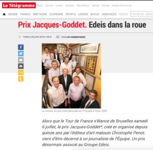 Telegramme - Prix Jacques-Goddet - Juillet 2019
