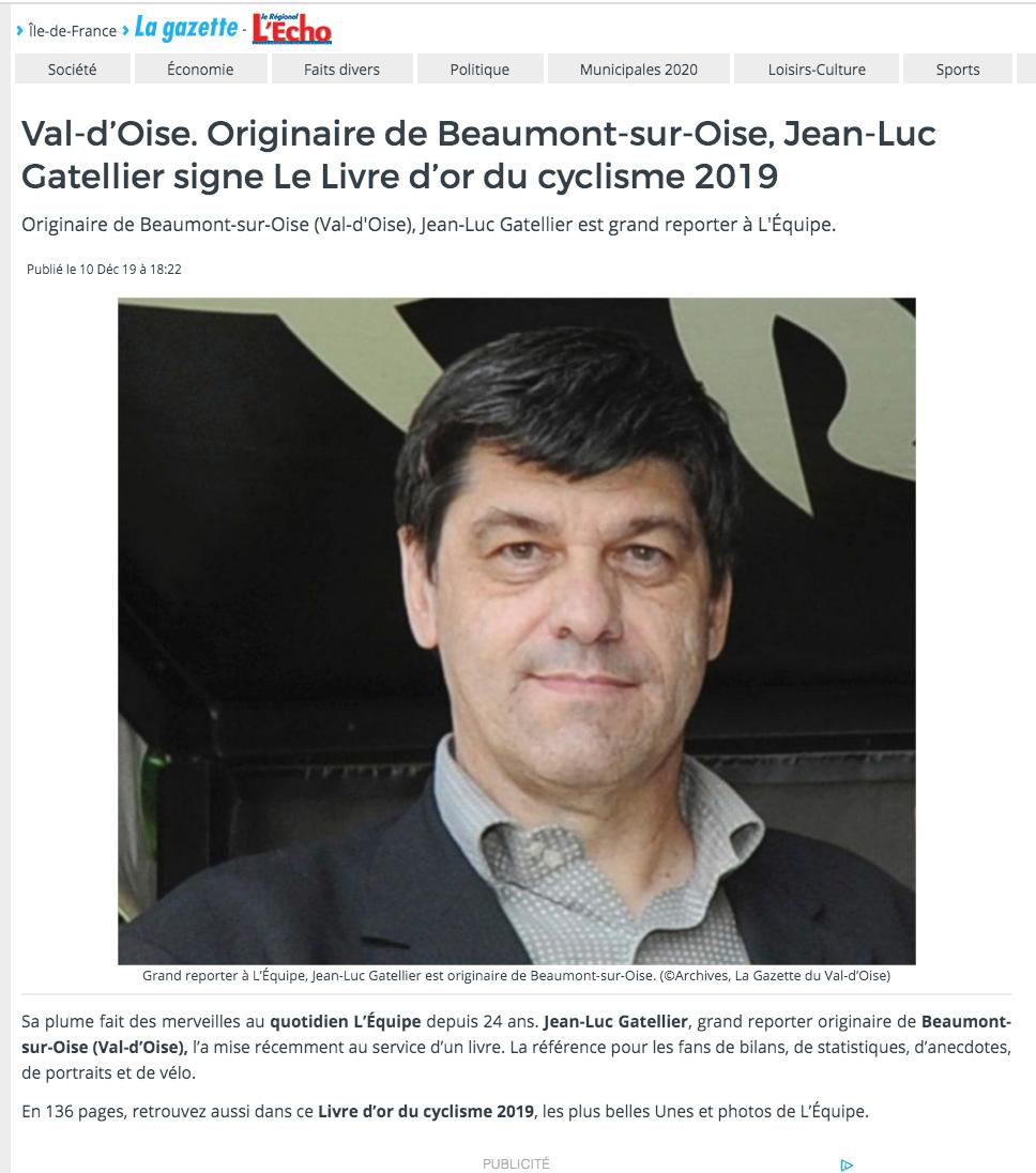 La Gazette du Val-d'Oise - Prix Jacques-Goddet - Décembre 2019