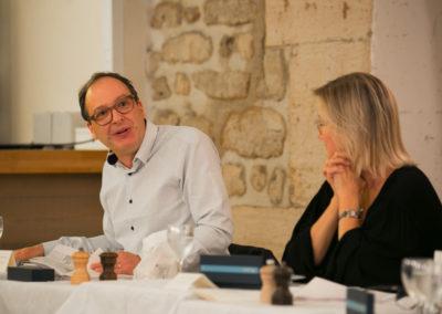 Henri Montulet à la relance. Isabelle Roche peut vérifier que l'ancien rédacteur en chef de <em>La France cycliste</em> défend ses convictions jusqu'au bout !