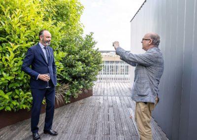 Une photographie juste pour lui! Tous deux membres du Conseil d'État, Marc Lambron et Édouard Philippe s'honorent d'une longue amitié.