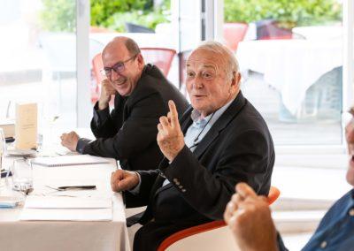 Sérieux et bonne humeur, suivant la tradition du Jury. Philippe Sudres, Jean-Marie Leblanc et Laurent Lachaux s'en donnent à cœur joie!